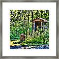 The Old Shed Framed Print by Cathy  Beharriell