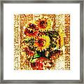 The Other Sunflowers Framed Print
