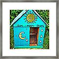 The Painted Dog House Framed Print