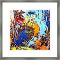 The Painting Has A Life Of Its Own. I Try To Let It Come Through. Jackson Pollock   Framed Print