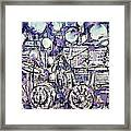 the PINK FLOYD in concert - drawing portrait Framed Print