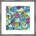 The Pond - An Aerial View Framed Print