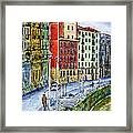 The Riverside Houses At Bilbao La Vieja Framed Print