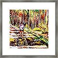 The Road Not Taken Framed Print