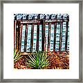 The Sea Fence Siesta Key Fla. Framed Print