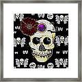 The Skull Is In Love With Cupidos Framed Print