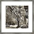 The Snow Tree - Sepia Antique Look Framed Print