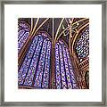 The Stained Glass Of La Sainte-chapelle Framed Print