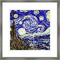 The Starry Night Reimagined Framed Print