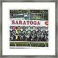 The Start At Saratoga Framed Print