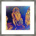 The Three Apes Are Discussing Important Matters  Framed Print