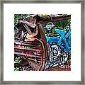 The Train And The Tree Framed Print