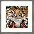 The Trinity Adored By The Duke Of Mantua And His Family Framed Print