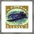 The Upside Down Biplane Stamp - 20130119 - V3 Framed Print