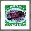 The Upside Down Biplane Stamp - 20130119 - V4 Framed Print
