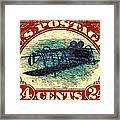 The Upside Down Biplane Stamp - 20130119 Framed Print