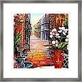 The View From A Courtyard Framed Print