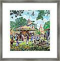 The Village Fayre  Framed Print