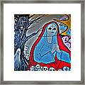 The Virgin Skeleton Adoring Framed Print by Andres Leon