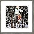 The Winter Greeter Framed Print