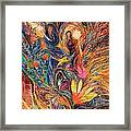 The Women Of Tanakh - Miriam With Timbrels Framed Print by Elena Kotliarker