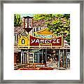 The Yangtze Restaurant On Van Horne Avenue Montreal  Framed Print