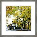 The Yardley Inn In Autumn Framed Print