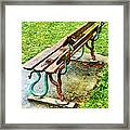 These Are No Snakes In The Grass Framed Print