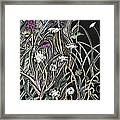 Thistle And Queen Anne Framed Print by Grace Keown