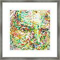 Thomas Bernhard Watercolor Portrait Framed Print