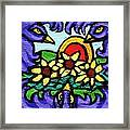 Three Crows And Sunflowers Framed Print by Genevieve Esson