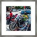 Three Guys On Bikes Framed Print