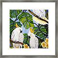 Three Is A Crowd Hand Embroidery Framed Print