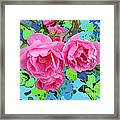 Three Pink Roses By M.l.d.moerings 2010 Framed Print