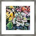 Three Roses Framed Print