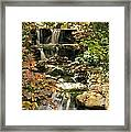 Three Water Falls Framed Print