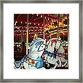 Three White Ponies Framed Print