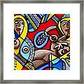 Three Women In The City Framed Print