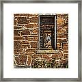 Through Doors And Windows - Abandoned House Framed Print