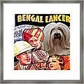 Tibetan Terrier Art - The Lives Of A Bengal Lancer Movie Poster Framed Print
