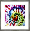 Tie Dyed T-shirt Framed Print