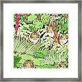Tiger Jungle Framed Print