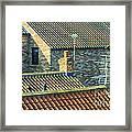 Tile Roofs - Thirsk England Framed Print