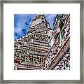 Tile Work On Wat Arun Bankok Framed Print