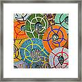 Tiled Swirls Framed Print