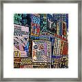 Time Square New York 20130503v9 Square Framed Print