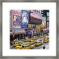 Time Square On A Week Day Framed Print