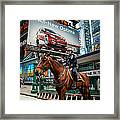 Times Square Horse Power Framed Print