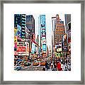 Times Square - New York City Framed Print