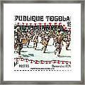 Togo Stamp Framed Print